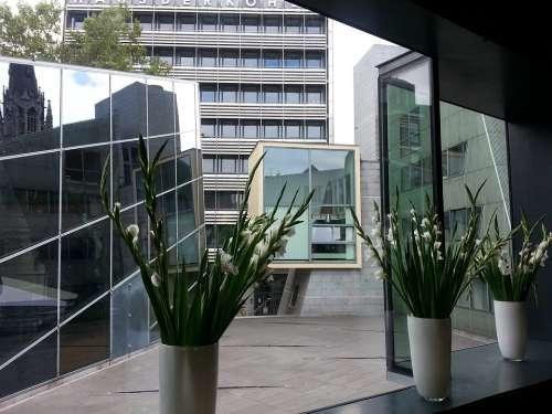 Architecture Mirroring Aachen Modern Building Cool
