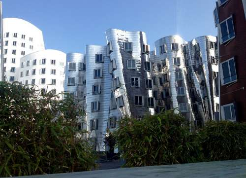 Architecture Building Facade Düsseldorf Germany
