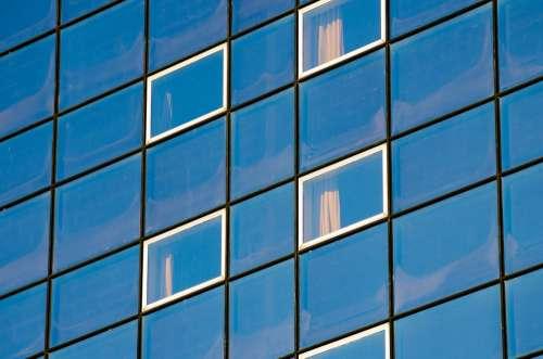 Architecture Background Blue Building Business