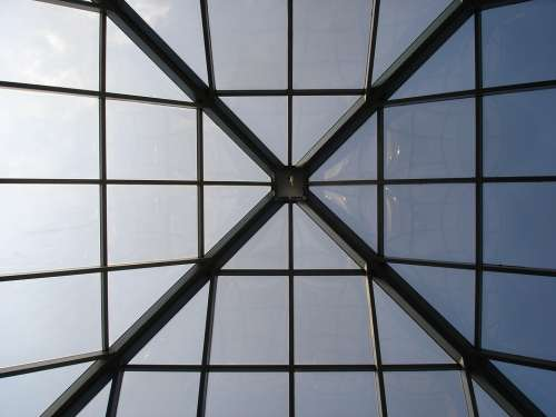 Architecture Ceiling Windows Pattern Square