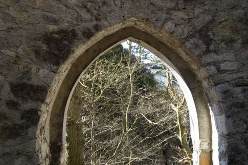 Archway Castle Middle Ages Rusenschloss Swabian Alb