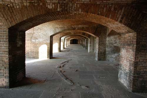 Archway Arch Architecture Fort Jefferson Fort