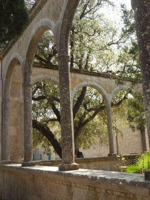 Archway Arcade Mallorca Spain Monastery