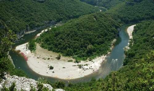 Ardeche Gorge River Canoe