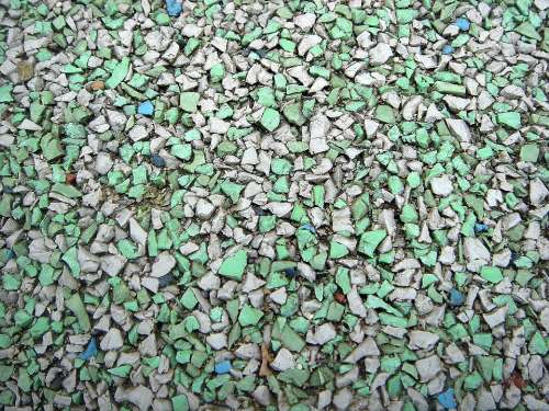 Area Rhinestones Blue Green