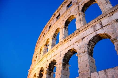 Arena Building Roman Old Roman History Antique