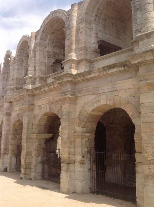 Arena Roman Arles Ancient Architecture Landmark