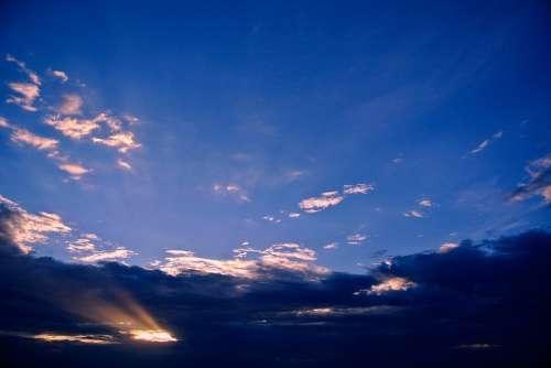 Arizona Sunrise Sky Mountains Landscape Nature