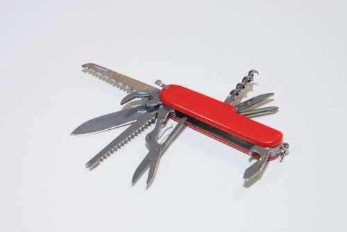 Army Clasp Knife Multifunction Penknife Red Swiss