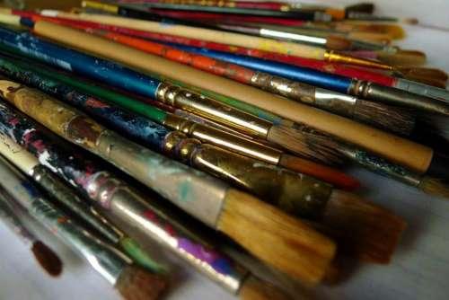 Art Artist Painting Brush Paintbrush Lots Colors