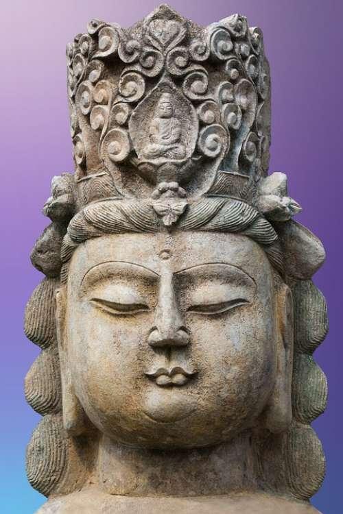 Art Asia Buddha Sculpture Figure Deity Statue