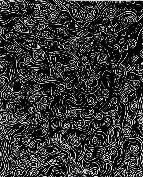 Art Black Marker Mystery Mysterious Eyes