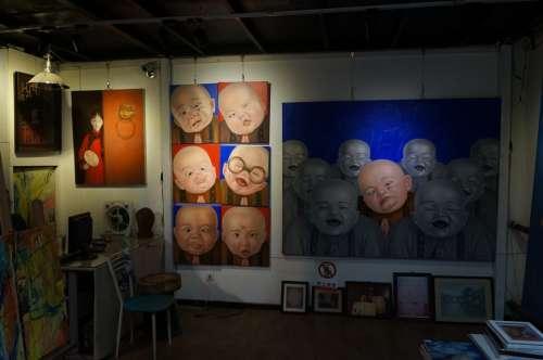 Art Exhibitions Art Expression Strange Face