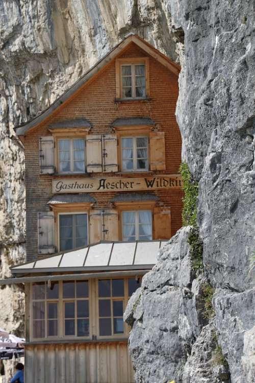 Äscher Cliff Restaurant Restaurant Ebenalp Appenzell