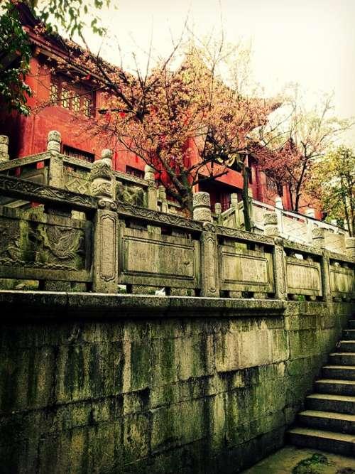 Asia China Guiyang Qianling Park Monastery Temple