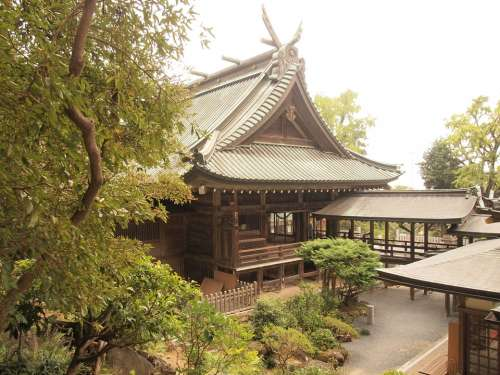 Asia Temple Building Buddhism Mountain Japan