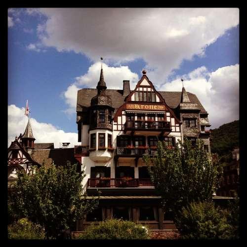 Assmanshausen Hotel Crown Old Historically Rhine