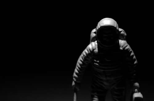 Astronaut Chiaroscuro Contrast Black And White