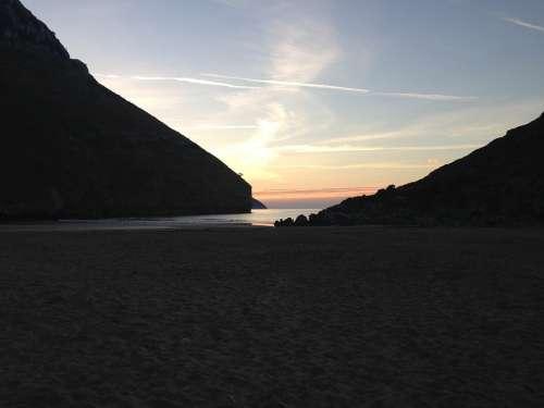 Atardecer Mar Beach Sea Naturaleza