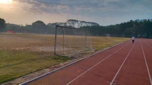 Athletic Track Sunrise Playground