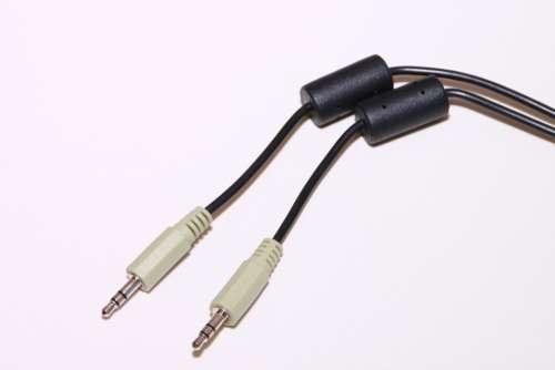 Audio Black Cable Extension Ferrite Headphone