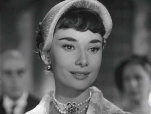 Audrey Hepburn Actress Scene Roman Holiday Film
