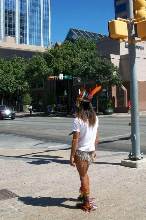 Austin Texas Downtown Native American Indian