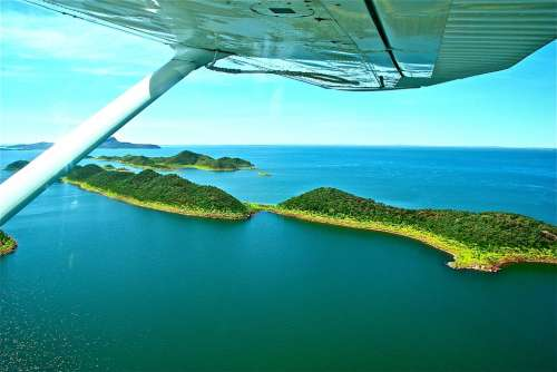 Australia Flight Islands Sea Ocean Nature Blue