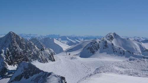 Austria Stubai Skis Winter Mountains