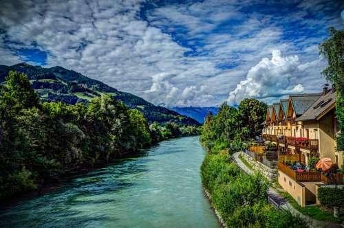 Austria St Johann Clouds Alps Landscape Nature