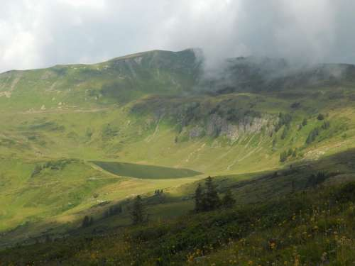Austria Landscape Sky Clouds Scenic Fog Mountains
