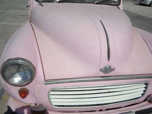 Auto Old Oldtimer Morris Pink