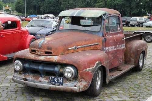 Auto Automotive Oldtimer Truck Vehicle