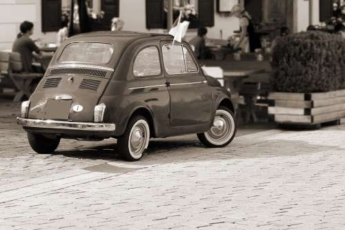 Auto Small Car Fiat Fiat 500 Old Nostalgia