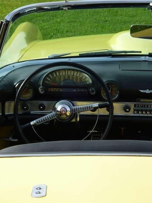 Auto Interior Ford Yellow Steering Wheel