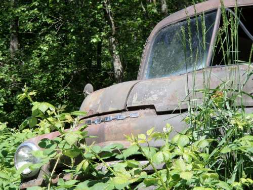 Auto Truck Rusted Metal Antique