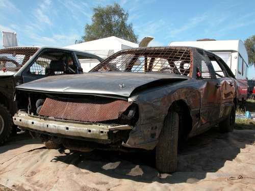 Auto Stock Car Racing Mature Restored Automotive
