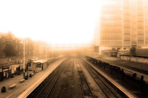 Autumn Brown City Curve Curvy Dull Early Fog