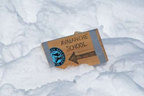 Avalanche Snow Sign Danger Ski Winter Mountain