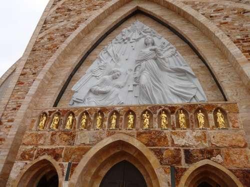 Ave Maria Church Frieze Saints Religion Christian