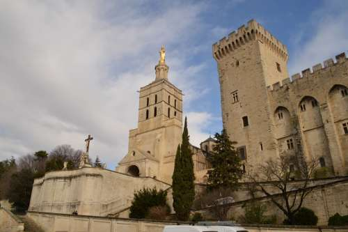 Avignon France Castle Architecture Historical