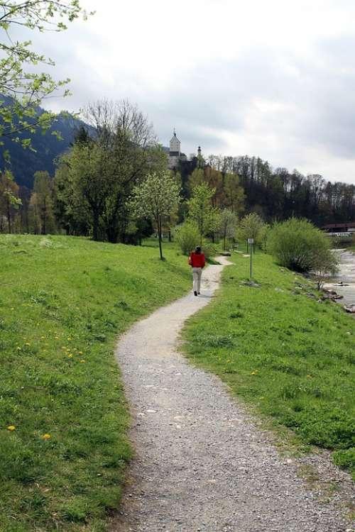 Away Trail Walk Person Human Alone