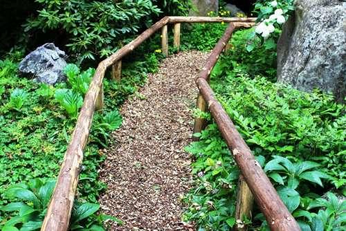 Away Roma Table Wood Chips Handrail Stone Garden