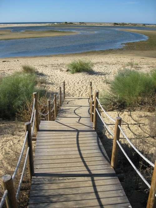 Away Web Landscape Algarve Boardwalk Sunny Mood