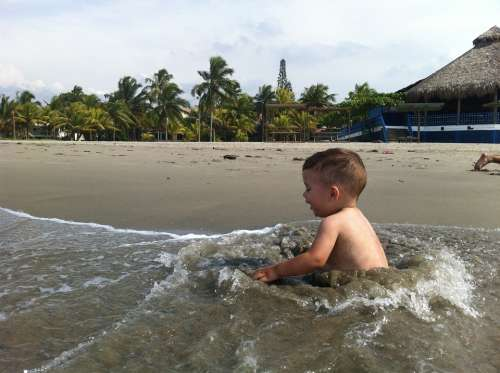 Baby Water Fun Summer Lifestyle Healthy Joy