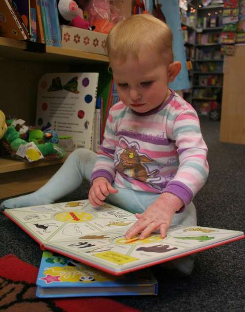 Baby Toddler Reading Book Booklover Bookworm