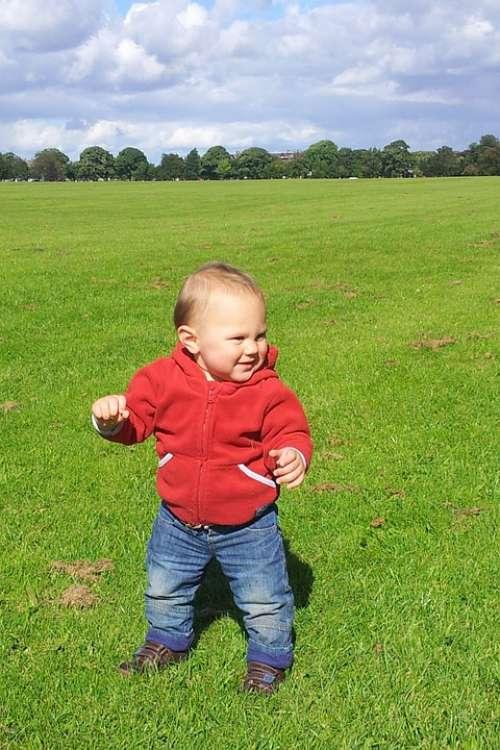Baby Boy Child Childhood Cute Fun Grass Green