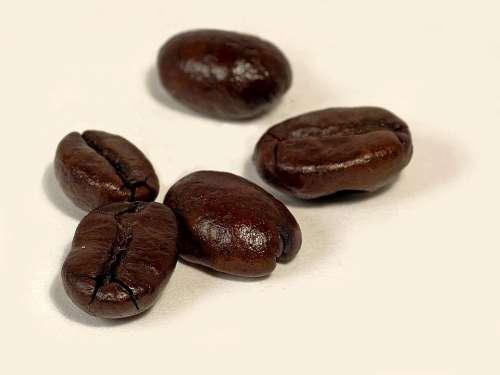Background White Coffee Roasted Dark