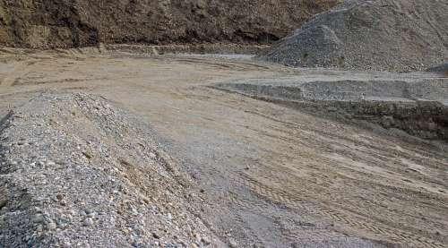 Background Grey Sand Stones Pit Sandpit Material