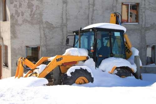 Backhoe Cold Digger Snowplow Loader Snow Tractor